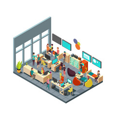 relaxed creative people meeting in room interior vector image vector image
