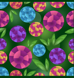 seamless background with fantasy optical art vector image vector image