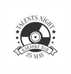 Talents Night Karaoke Premium Quality Bar Club vector image vector image
