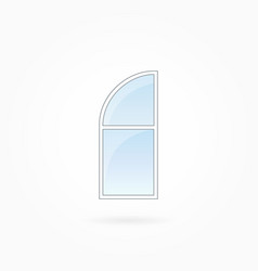 window frame with rounded valve eps 10 vector image