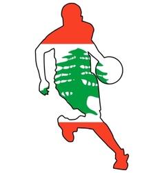 basketball colors of Lebanon vector image vector image