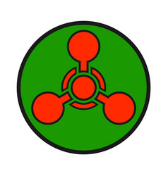 chemical weapon warning hazard sign vector image