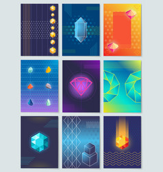 diamonds and stones collection vector image