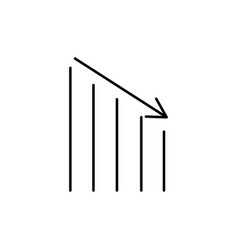 down chart vector image