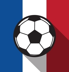 football icon with France flag vector image vector image