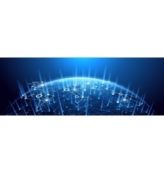 Global network background vector image vector image