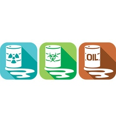 Pollution and Danger Icon Set vector image vector image