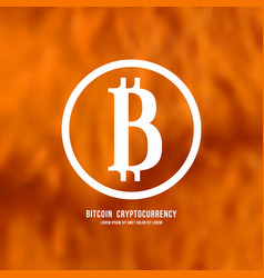 Stock emblem of bitcoin cryptocurrency vector