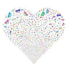 universal army knife fireworks heart vector image vector image