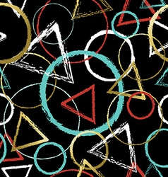 Abstract pattern with colorful geometric shapes vector image