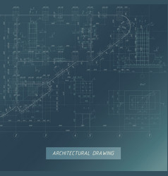 architectural blueprint building background vector image