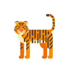 flat style of tiger vector image vector image