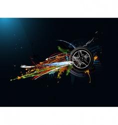 funky wheel vector image vector image