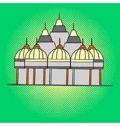 Shri Swaminarayan Mandir pop art vector image vector image