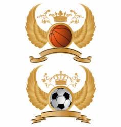sport heraldry vector image vector image