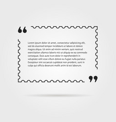 citation in thin line postage stamp vector image