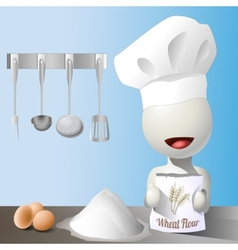 faceless chef vector image
