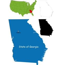 Georgia map vector image vector image