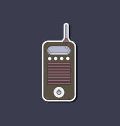 Paper sticker on background of old cell phone vector