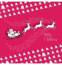 Santa Claus rides in a sleigh vector image