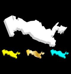 3d map of uzbekistan vector