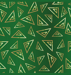 A pattern repeating triangles on a green vector