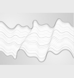 abstract tech concept futuristic wavy background vector image