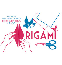 banner cover for origami two colors vector image