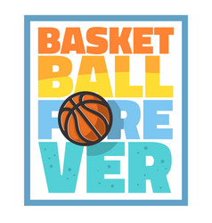 basketball themed slogan t shirt print design vector image