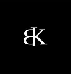 Bk letter mark monogram logo icon vector