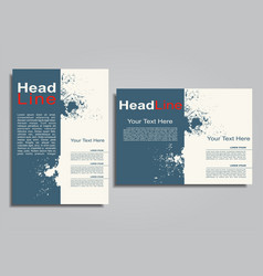 Book album brochure cover design template vector