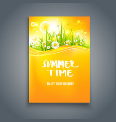 Bright summer time blank vector