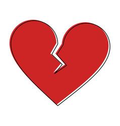 broken heart cartoon icon image royalty free vector image rh vectorstock com cartoon heart broken cartoon heart broken