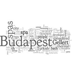 Budapest spas vector