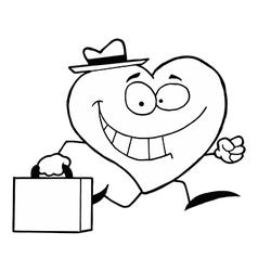 Cartoon heart employee vector