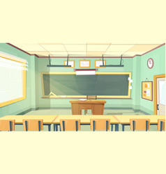 Cartoon of college classroom vector