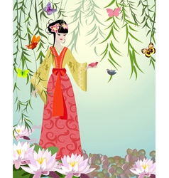 China girl6 vector image vector image