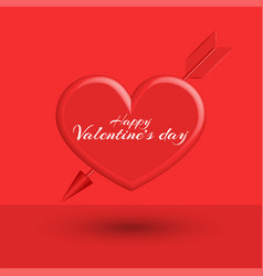 classic valentine is day greeting card mockup vector image