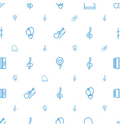 classical icons pattern seamless white background vector image