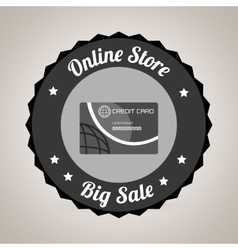 commercial seal online store isolated icon design vector image