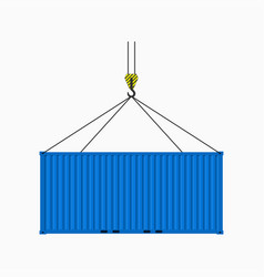 container on the crane vector image