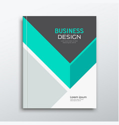 Cover business book annual report green and gray vector
