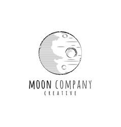creative moon logo design inspiration vector image