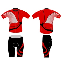 Cycling vest fashion vector