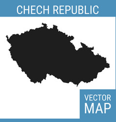 Czech republic map with title vector