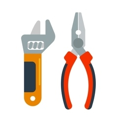 Decorating home renovation tools pliers and wrench vector image
