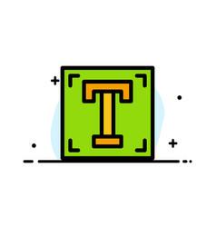 Designer font path program text business flat vector