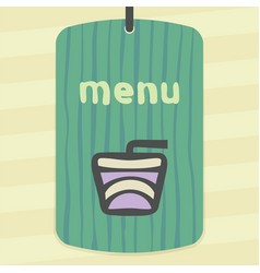 Drink in a paper cup with a cocktail straw icon vector