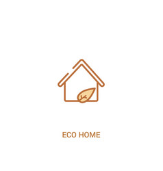 Eco home concept 2 colored icon simple line vector