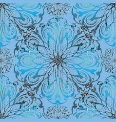 elegance floral 3d seamless mandala pattern vector image